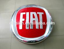 Lighted FIAT round car emblems / round car logo emblem / car chrome badge emblem