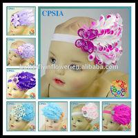 Baby Infant Headband Bow Peacock Feather Pad baby girl butterfly headbands