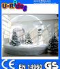 pvc transparent christmas inflatable snow ball