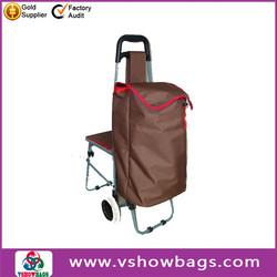two wheels shopping trolley bag folding rolling shopping bag lightwieght foldable shopping bag