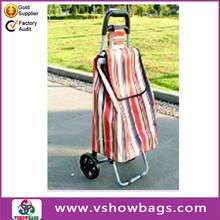 fabric shopping trolley reusable folding shopping bags foldable shopping trolley with wheel
