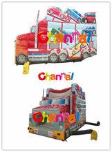 Transporter Truck Jump Slide/ Inflatable slides