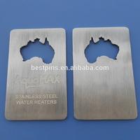Australia map shaped opener bottle opener, credit card beer bottle openers, custom laser engraved bottle openers