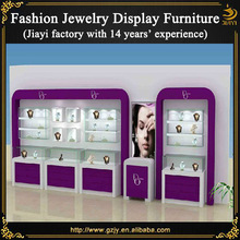 Wall mounted foot modern jewelry display counter stand