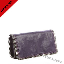 shiny suede leather fabric charming women clutch 2014