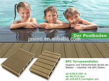 Moisture resist, anti-slip Exterior/Outdoor Wood Plastic Composite deck floor covering/good price WPC swimming pool flooring