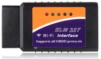 ELM327 Wi-Fi OBD2 Car Diagnostic Reader Scanner for iPhone, iPad & PC (Black & Orange) price of car car scanner