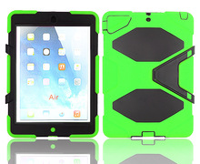 Heavy duty strong durable silicone cover case with stand for iPad Air