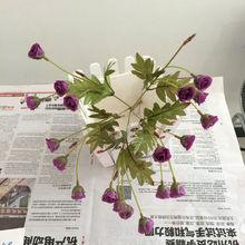 mini purple rose Import China silk flowers