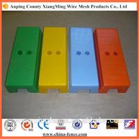 No sharp edges concrete filled plastic temporary fence blocks