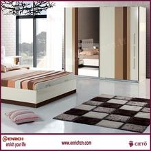 Glazed laminate furbedroom furniture white wooden wardrobeniture cheap board wardrobe