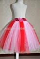 2014 chegada novo! Rosa vermelha e rosa flor fada saia das meninas com flor hortênsia