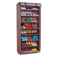 SW Wardrobe Closet Storage Organizer Hanger Clothes Rack Shoe Standing Portable Fashion non-woven stainless steel shoe rack