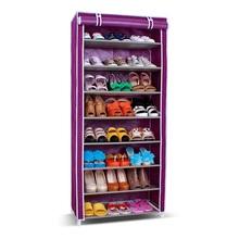 SW Wardrobe Closet Storage Organizer Hanger Clothes Rack Shoe Standing Portable Fashion non-woven closed shoe rack