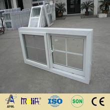 2014 AFOL-pvc mosquito net windows, pvc sliding tinted glass window
