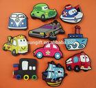 custom 3d car shape souvenir pvc fridge magnet
