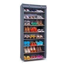 SW Wardrobe Closet Storage Organizer Hanger Clothes Rack Shoe Standing Portable Fashion non-woven hanging shoe rack