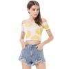 Off shoulder all over fruit print crop t shirt best sale crop top for summer