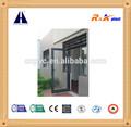 de aluminio de la puerta de vidrio superior decoración de sol del obturador con recubrimiento en polvo de color gris de perfil