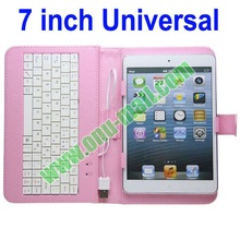 High Quality 7 inch tablet pc leather keyboard case