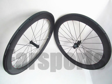700C 60mm DEEP 23mm wide road carbon tubular wheelset EDCO Straight pull hub light weight