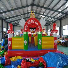 Kids play inflatable dragon city playground