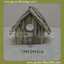 Garden decoration hanging wooden bird house