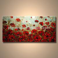 Modern Flower Canvas Oil Painting