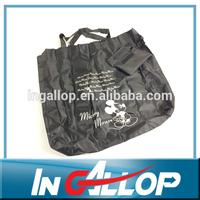 Grey flower folding shopping bag