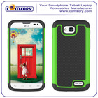 Soccer Skin Combo Hybrid Silicon Rubber & hard PC Defender Phone Case for LG L90