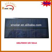 180X70MM 18V 50mA 12v Mini Solar Panel
