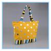 Large canvas beach tote bag, stripe canvas beach tote bag,cotton canvas tote bag