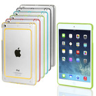 Hybrid TPU PC Bumper Transparent Back Case Cover For Apple iPad 4 3 2 iPad Mini