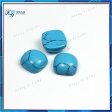 Nicely Polished Synthetic Turquoise 9x9mm Square Shape Turquoise Square Cabochon Aqua Blue Loose Gemstone Wholesale