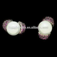 pearl necklace jewelry earring description