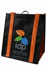 Custom promotional gift foldable shoulder pp printed garment cheap drawstring tote fabric laminated recyclable non woven bag