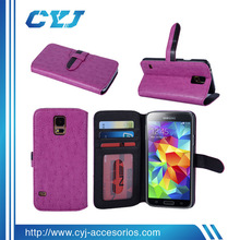 2014 newly mixed color wallet Leather fancy cell phone cover case for samsung galaxy s5