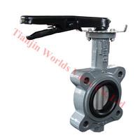 nbr seat gear stainless steel semi lug butterfly valve