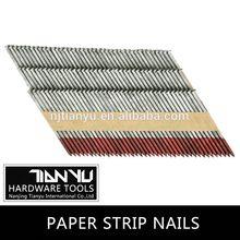 Fabricación! 28 34 degree tira de papel cotejada uñas de uñas esmalte de uñas esmalte