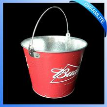 Decorative Galvanized Metal Tin Ice Bucket