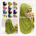 Unique nouveau style hijab musulman avec des perles à l'arrière syf085