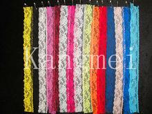1 rolls / lot venta al por mayor de encaje de algodón de tejido de punto de la cinta adhesiva de la etiqueta engomada del arte de la decoración de la tela