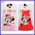 Nouveau 2014 enfants vêtements filles robe de minnie mickey mouse cute, rouge et rose vêtements mini, cat kt bébés filles robe