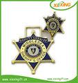 2014 personnalisé en forme d'étoile émail mou métal allemand seconde guerre mondiale insigne
