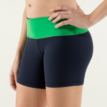 seamless low friction shorts, lycra polyester spandex shorts for women