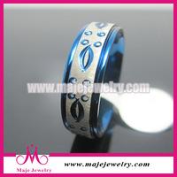 2015 engraved blue tone perfect style ring wholesale masonic items