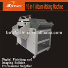 Heat and cold binding CNC cutting photo album making machine