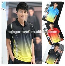 badminton t-shirt wholesale sports unisex polo tee for couples