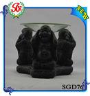 SGD76 Black Buddha Laughting Thurible