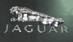 Plastic jaguar car emblem / auto emblem / metal color logo